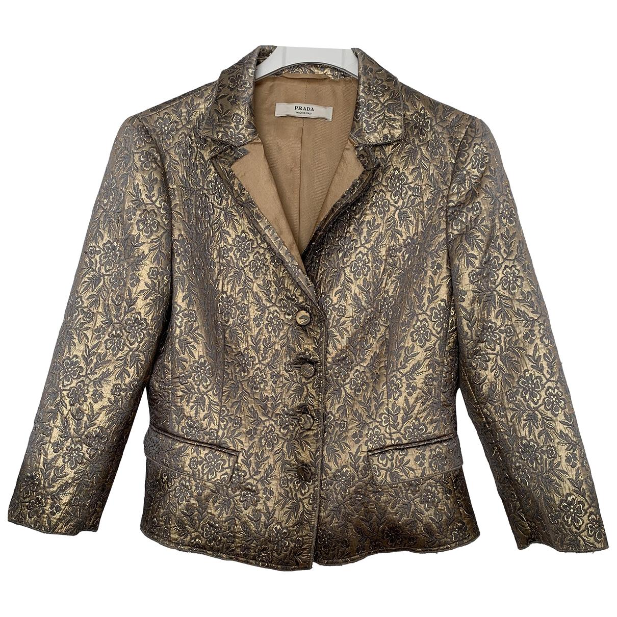 Prada \N Gold Silk jacket for Women 40 FR