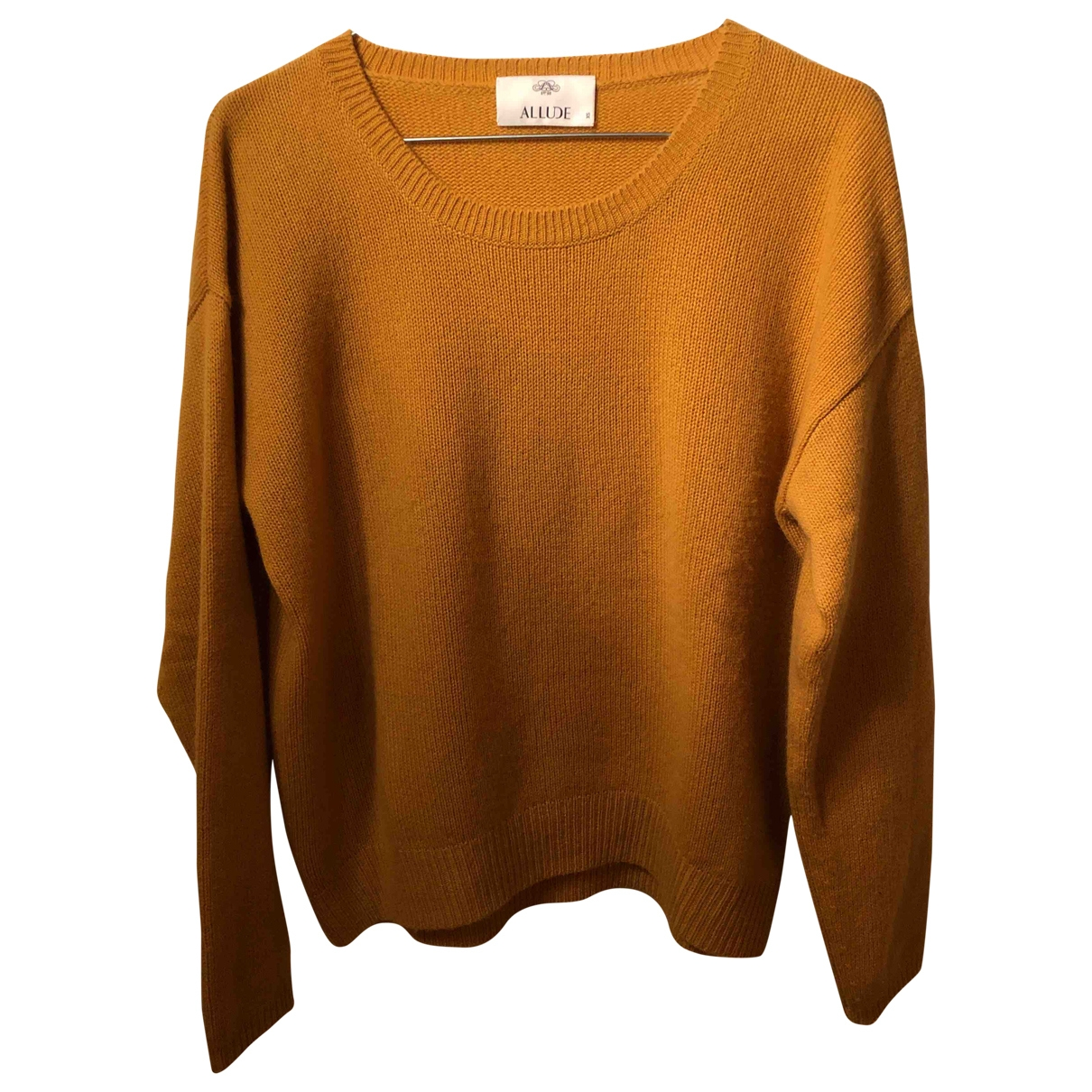 Allude \N Pullover in  Gelb Kaschmir