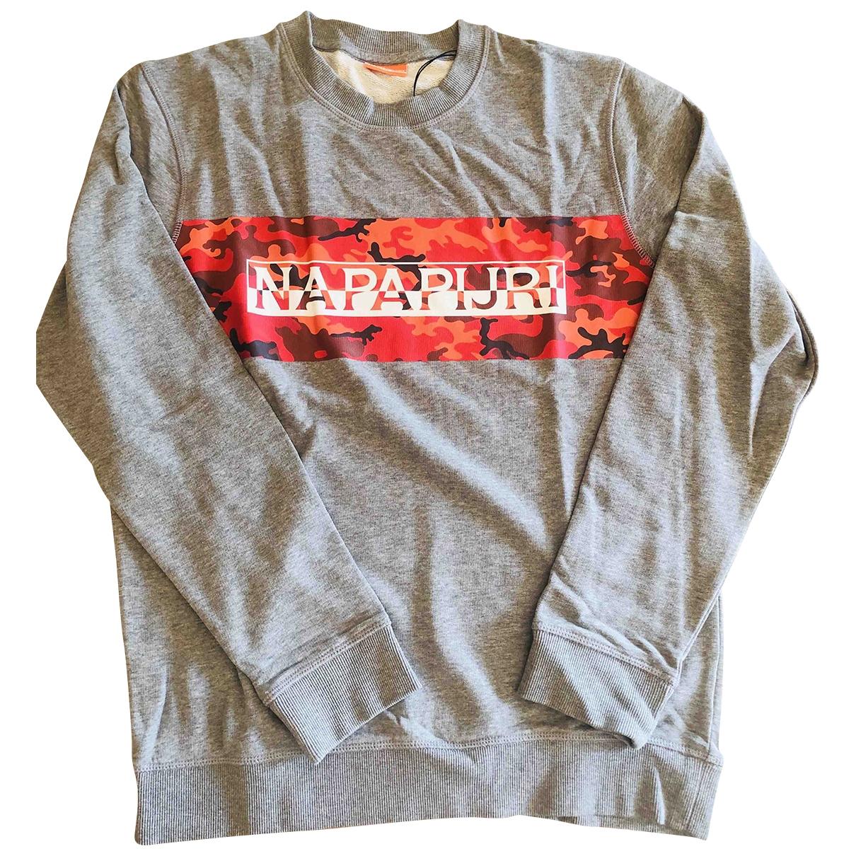 Napapijri \N Pullover.Westen.Sweatshirts  in  Grau Baumwolle