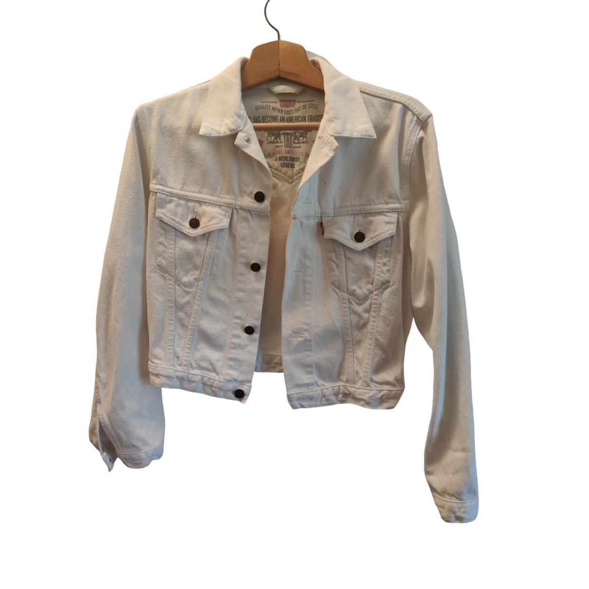 Levis Vintage Clothing - Veste   pour femme en denim - blanc
