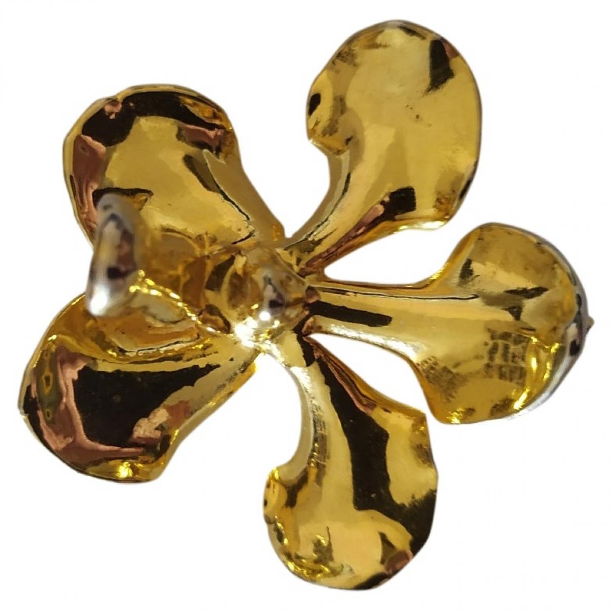 Non Signe / Unsigned \N Brosche in  Gold Vergoldet