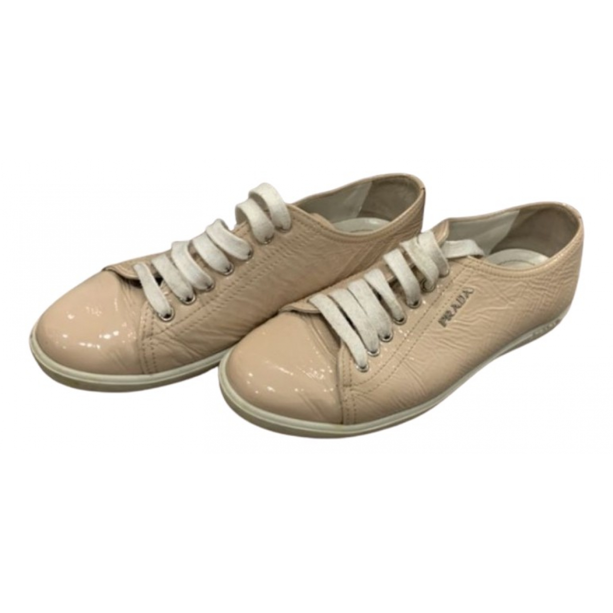 Prada \N Sneakers in  Beige Lackleder