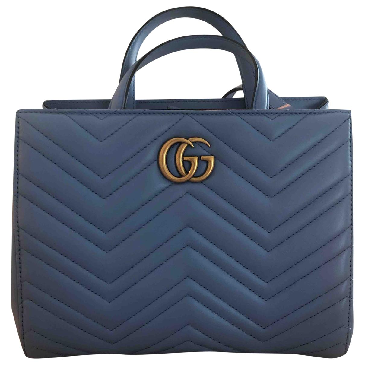 Gucci Marmont Handtasche in  Tuerkis Leder