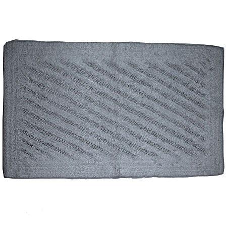 Castle Hill London Reversible Shooting Star Bath Rug Collection, One Size , Silver
