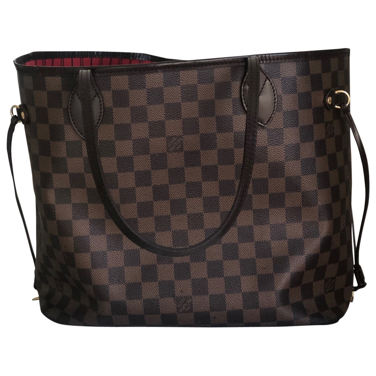 Louis Vuitton - Sac a main Neverfull pour femme en toile - marron