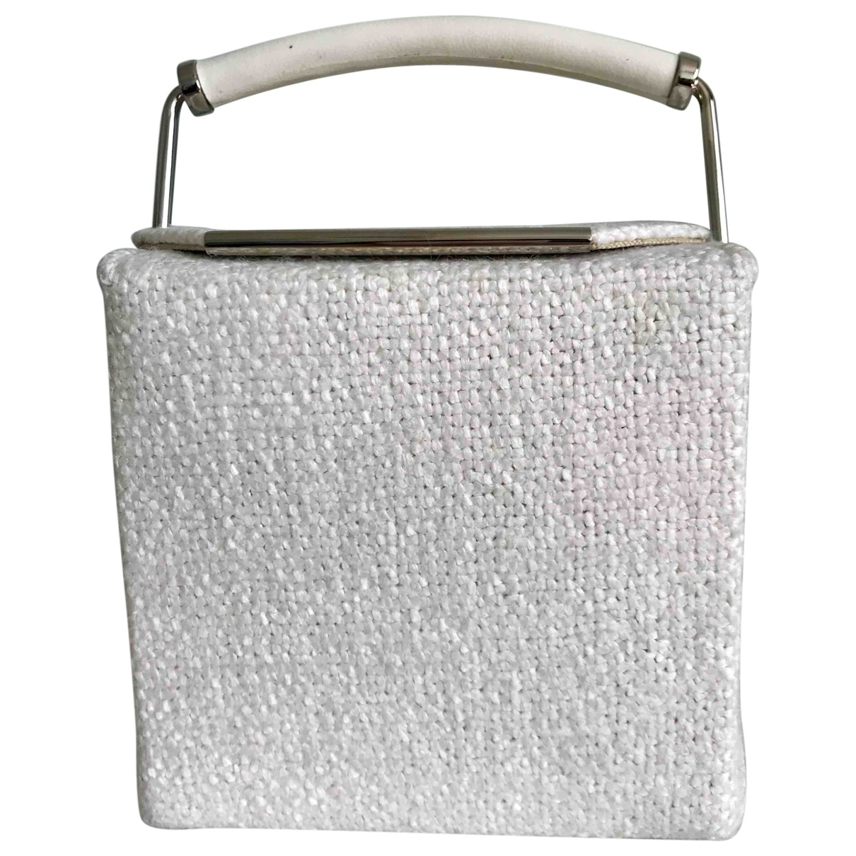 Ermanno Scervino \N White Cloth Clutch bag for Women \N