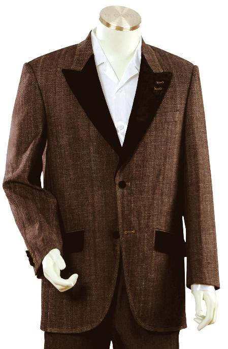 2 Button Brown Unique Tuxedo Mens