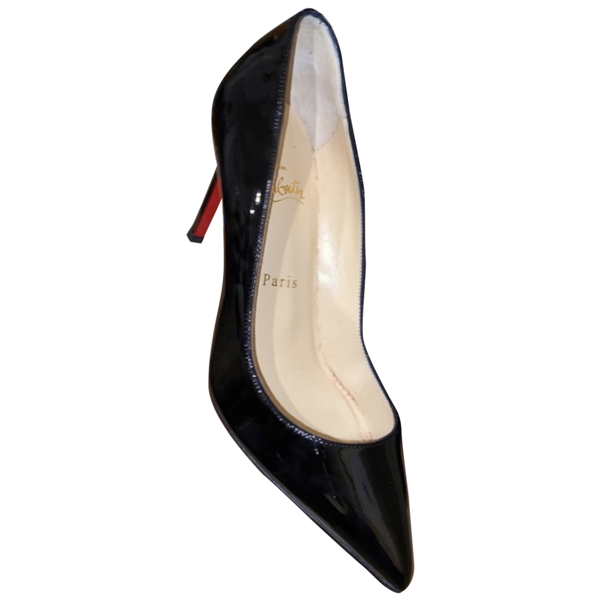 Christian Louboutin Pigalle Black Patent leather Heels for Women 37.5 EU