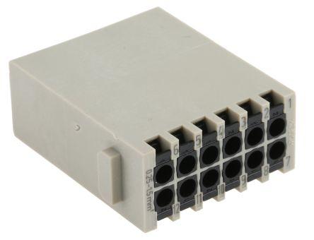 HARTING Han-Modular 0914 Series Quick Lock Module, Male, 12 Way, 10A, 250 V (2)