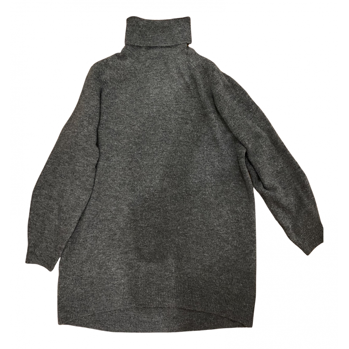 Non Signé / Unsigned Oversize Grey dress for Women 36 FR