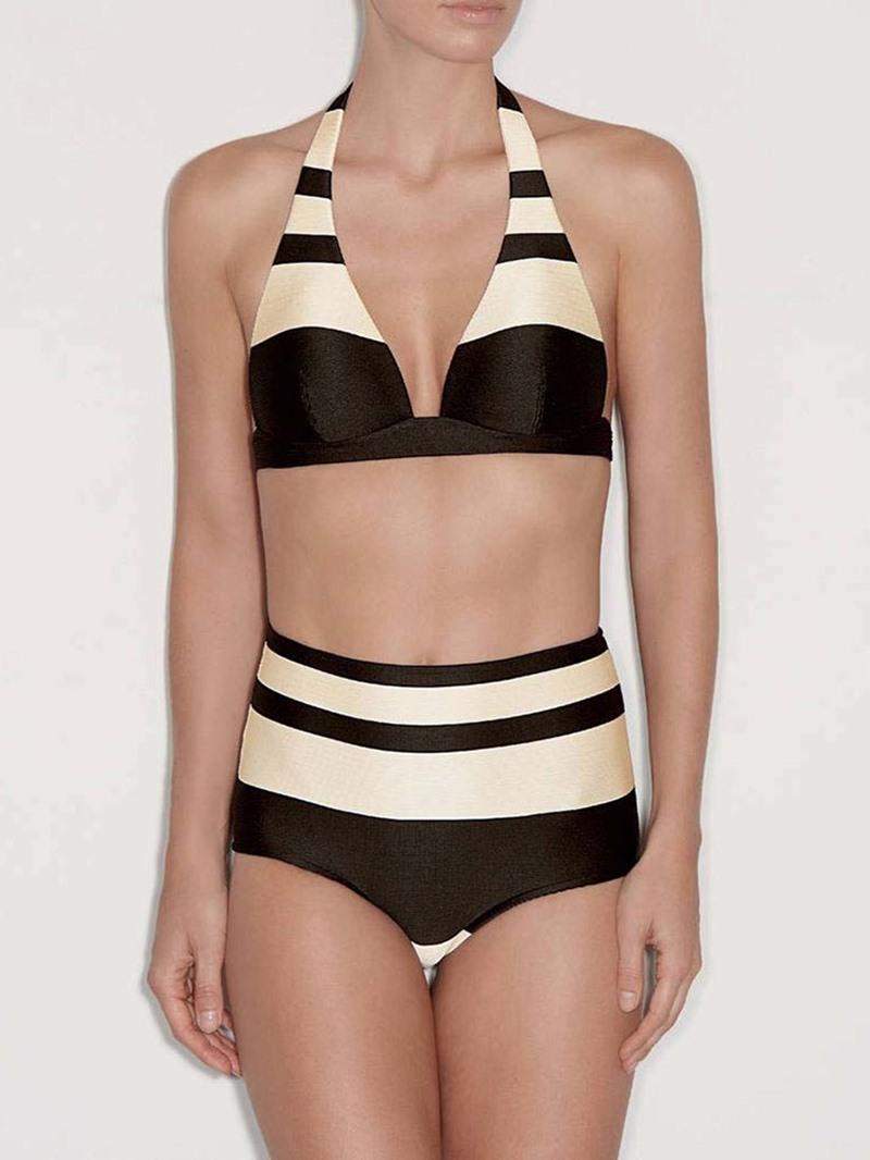 Ericdress Tankini Set Stripe Sexy Swimsuit