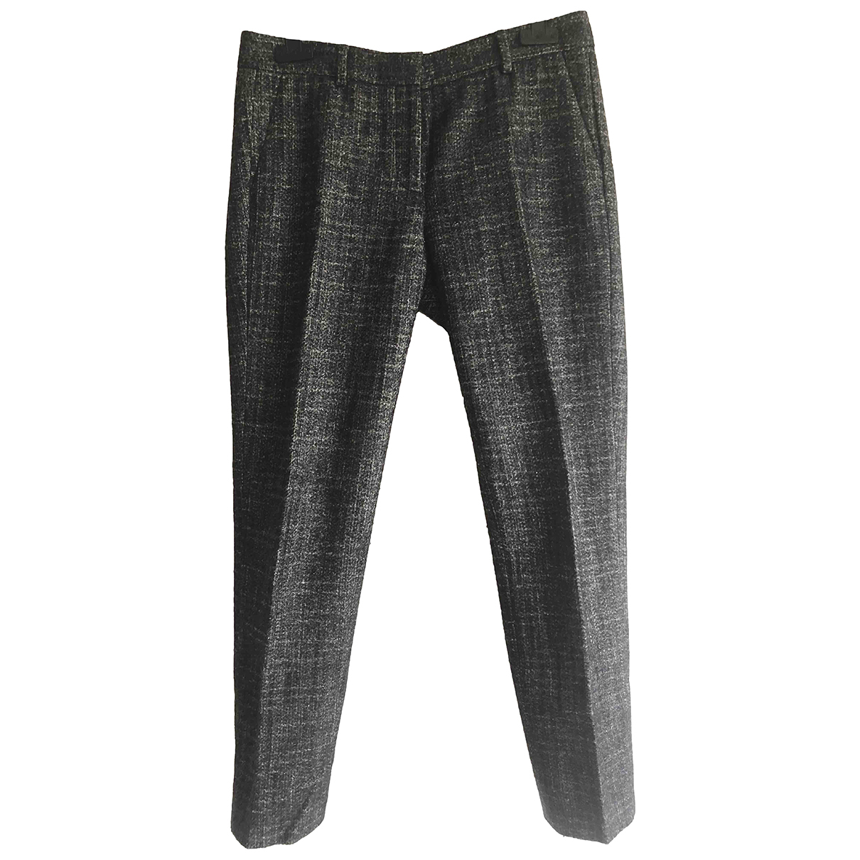 Mauro Grifoni N Grey Wool Trousers for Women 40 IT