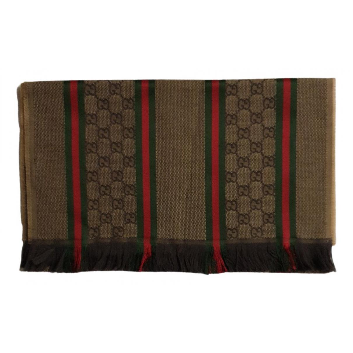 Gucci - Cheches.Echarpes   pour homme en laine - camel