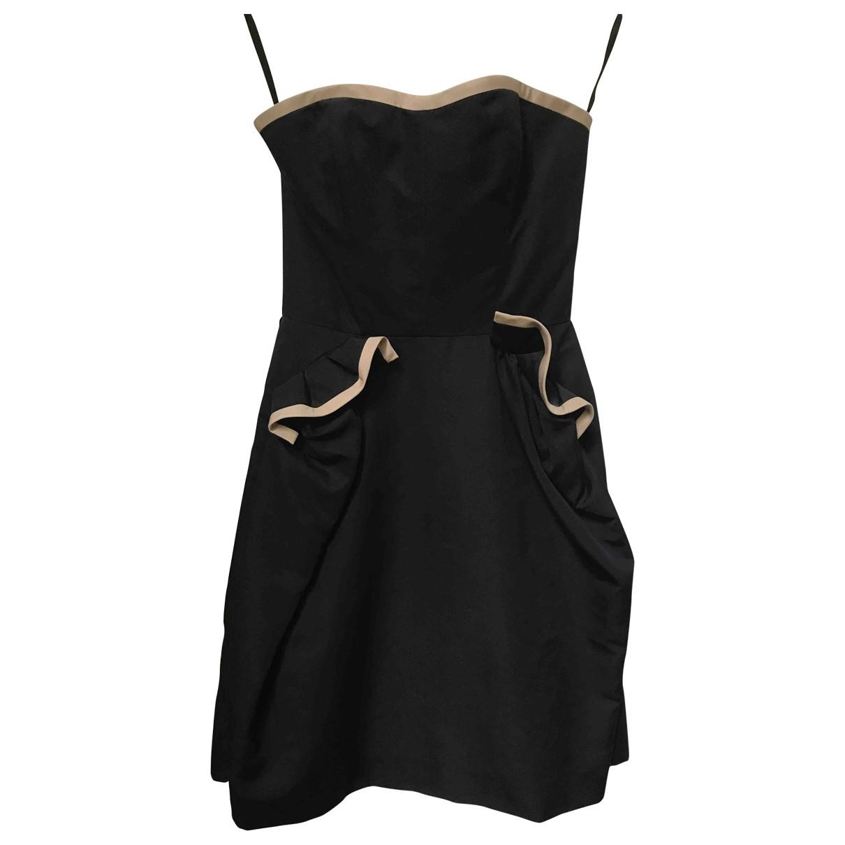 Yves Saint Laurent \N Black Cotton dress for Women 36 FR
