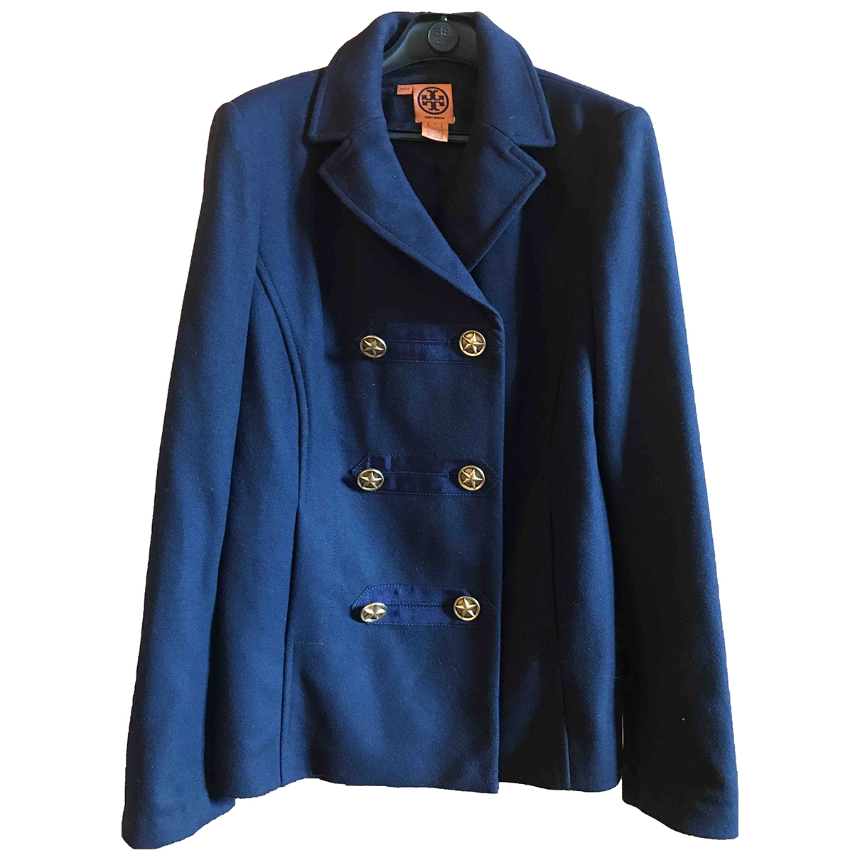 Tory Burch \N Jacke in  Blau Wolle