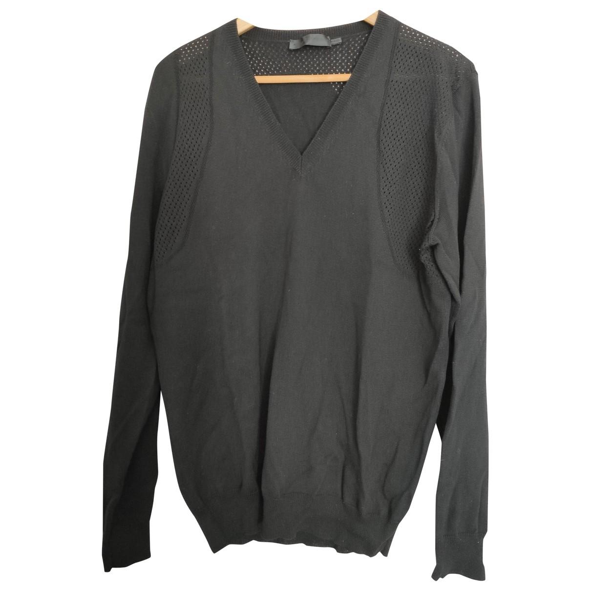 Alexander Mcqueen \N Pullover.Westen.Sweatshirts  in  Schwarz Wolle