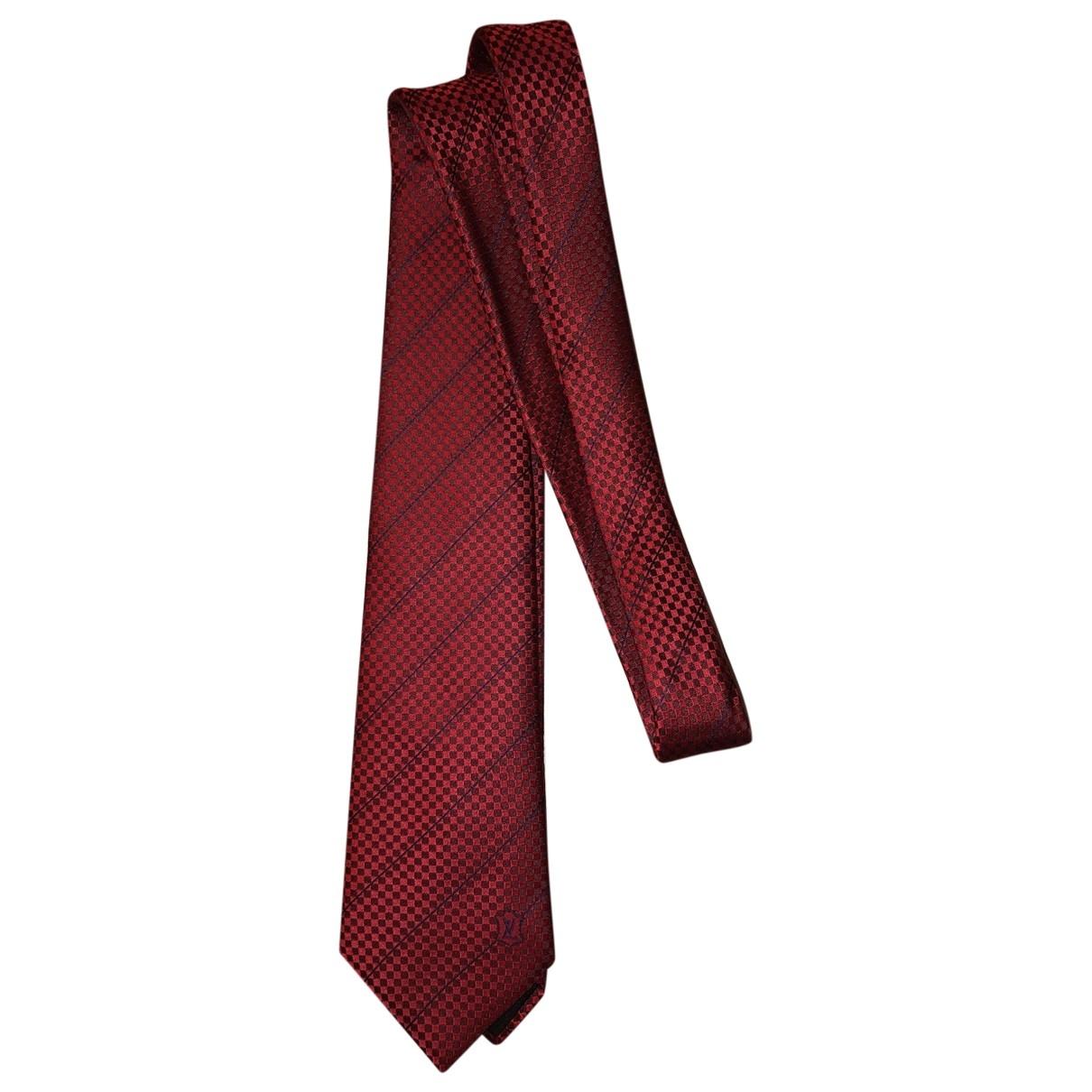 Louis Vuitton - Cravates   pour homme en soie - rouge