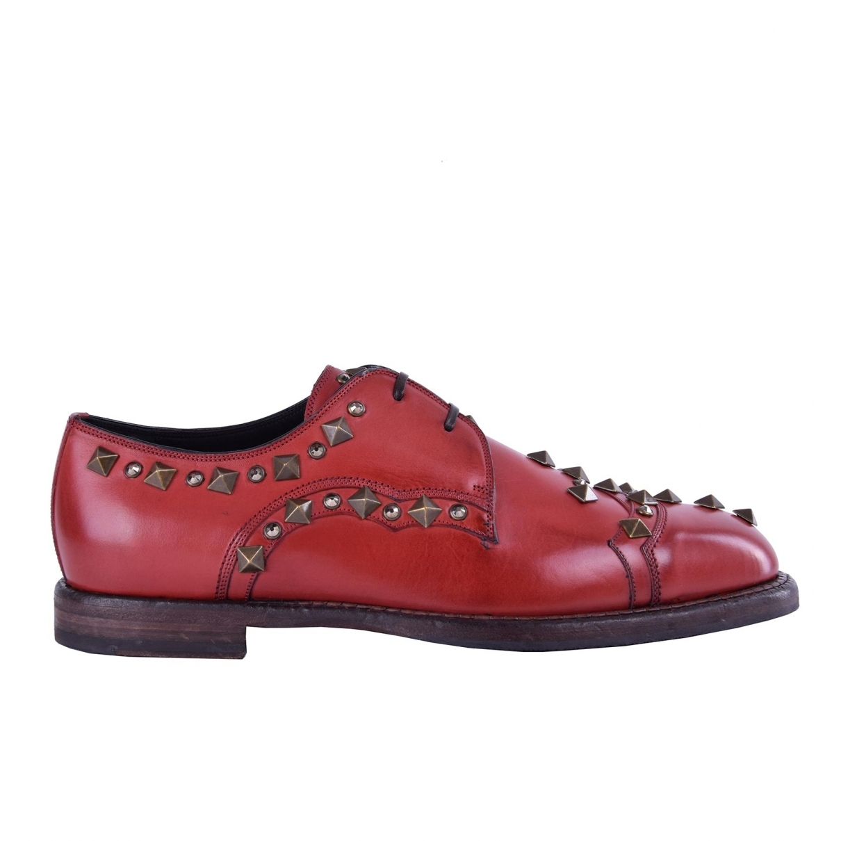 Dolce & Gabbana \N Red Leather Lace ups for Men 39.5 EU