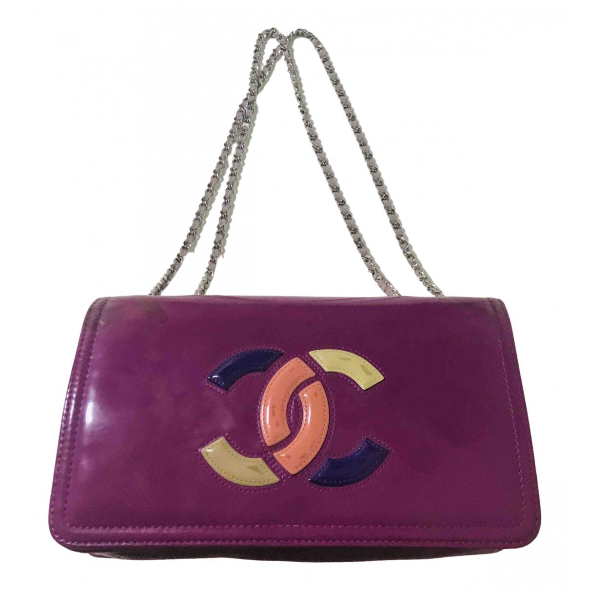 Chanel N Purple Patent leather handbag for Women N