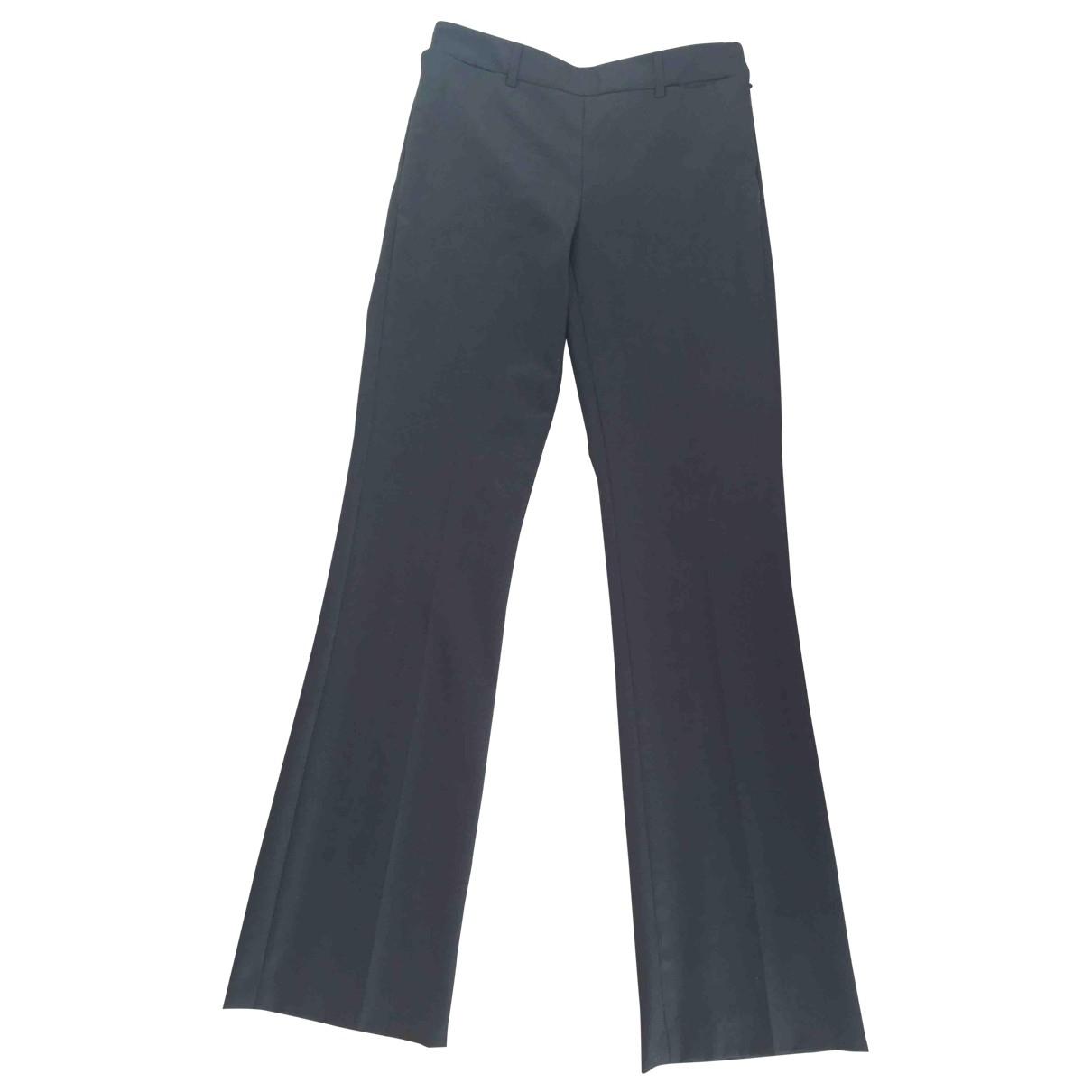 Chanel \N Grey Wool Trousers for Women 36 FR