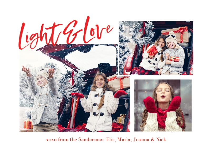 Christmas Photo Cards 5x7 Cards, Premium Cardstock 120lb, Card & Stationery -Bold Script