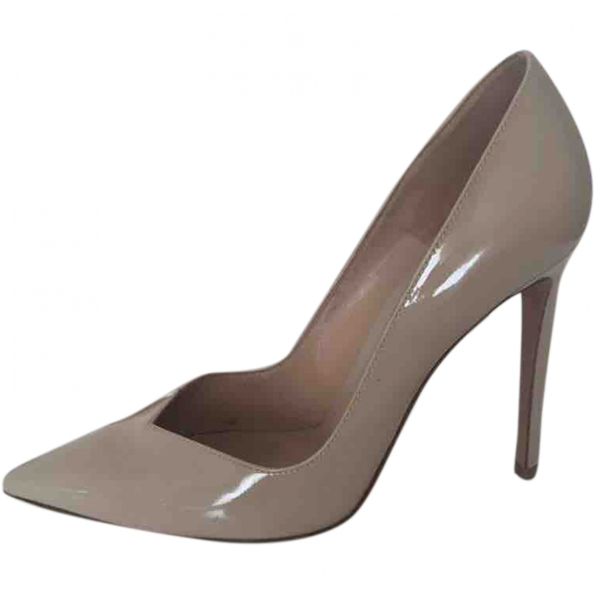Gianvito Rossi \N Beige Patent leather Heels for Women 37 EU