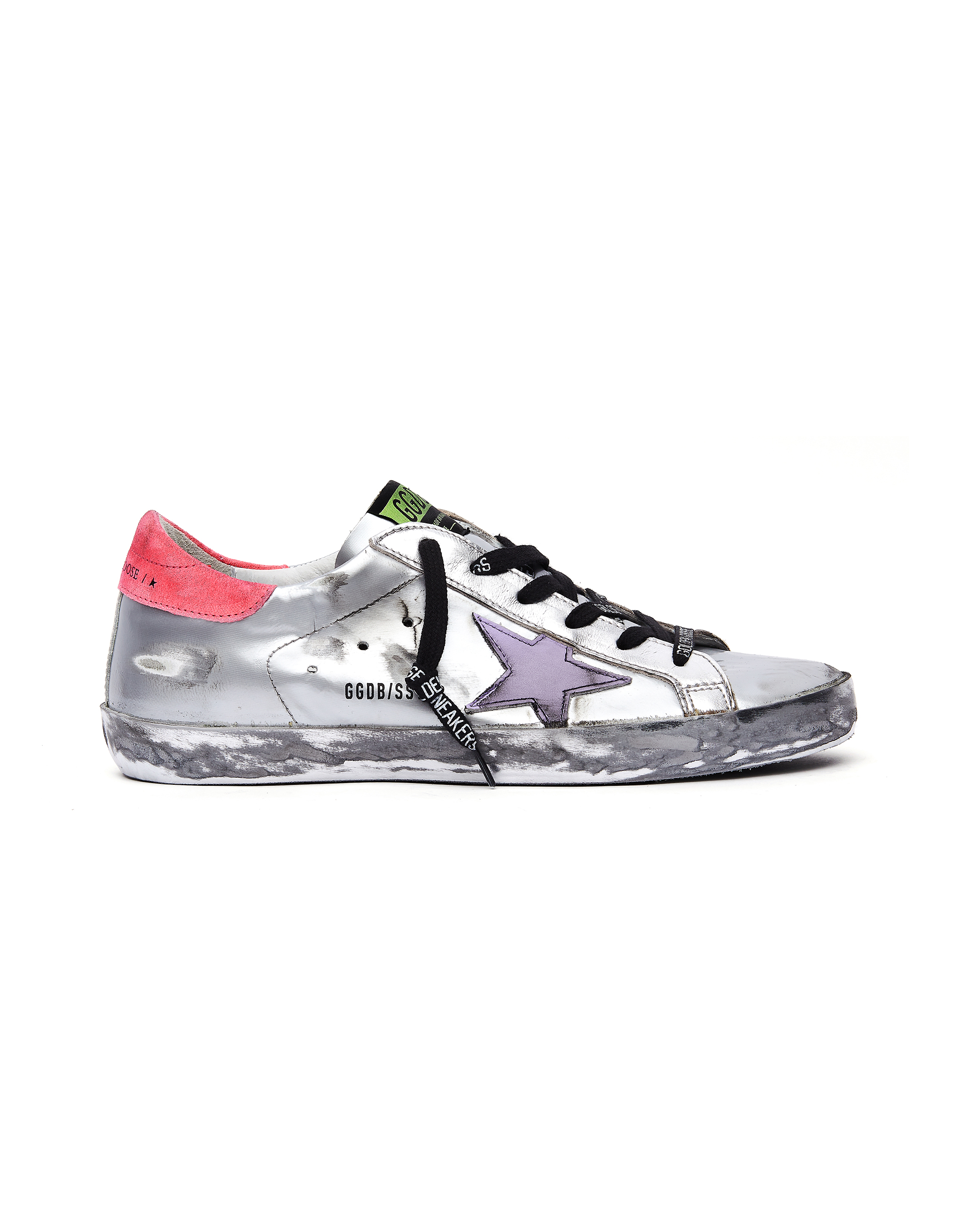 Golden Goose Silver Superstar Sneakers