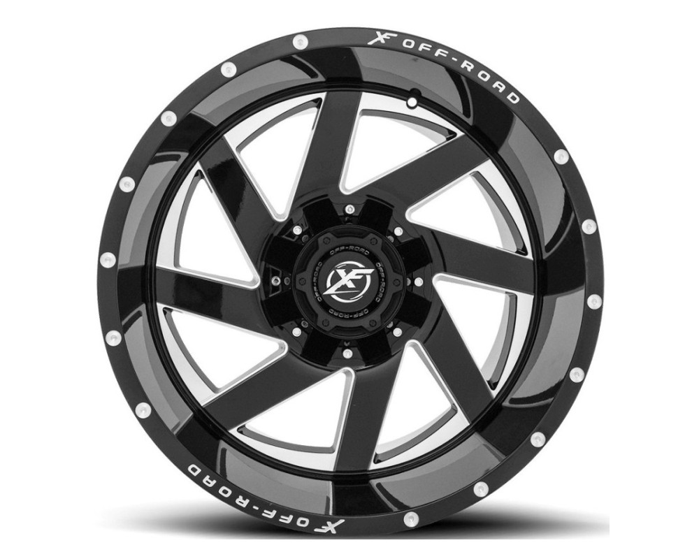 XF Off-Road XF-205 Wheel 20x10 5x139.7|5x150 -24mm Gloss Black w/ Milled Window