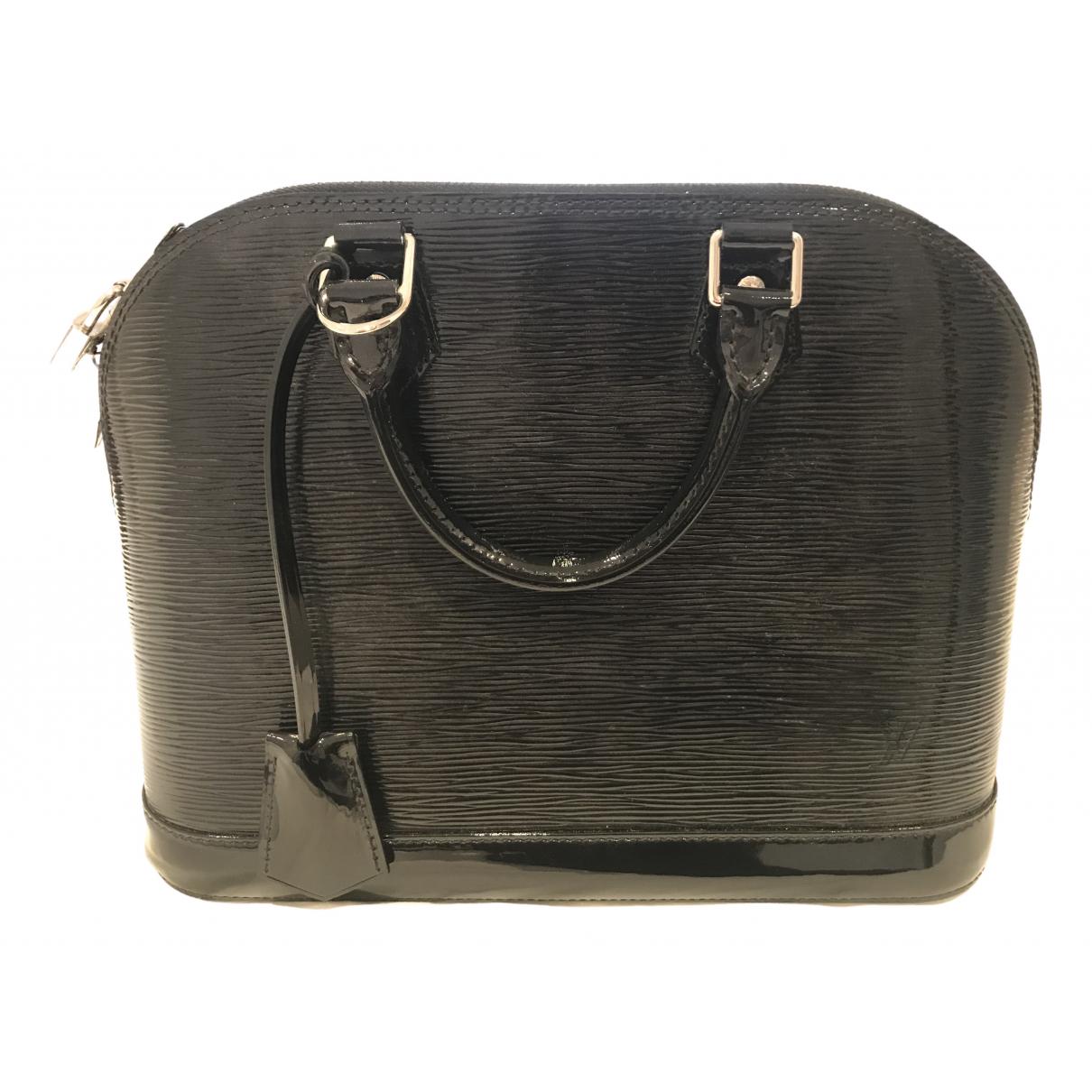 Louis Vuitton Alma BB Handtasche in  Schwarz Lackleder