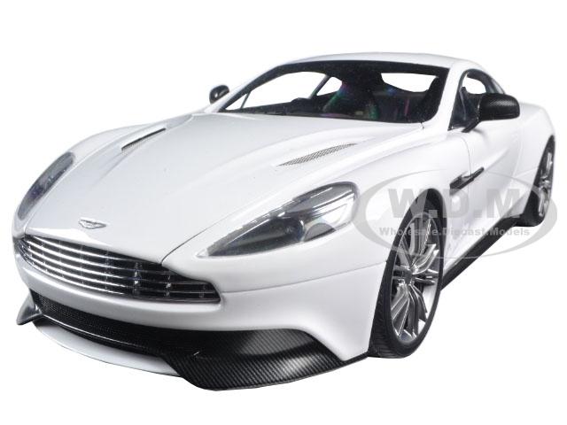 Aston Martin Vanquish Glossy White 1/18 Model Car by Autoart