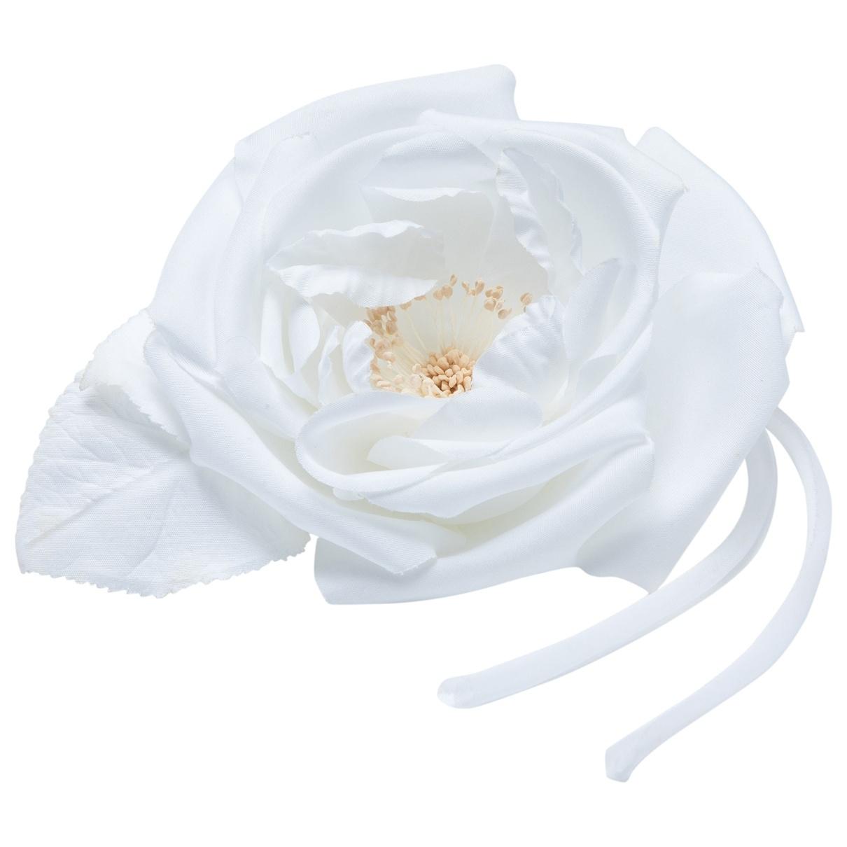 Valentino Garavani - Broche   pour femme en toile - blanc