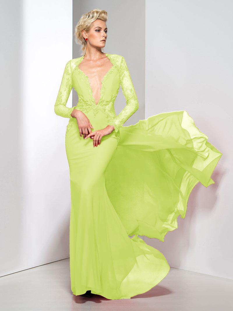 Ericdress Long Sleeve Ttumpet Lace Evening Dress