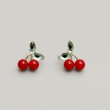 Cherry Decor Stud Earrings