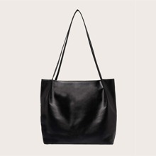 Ruched Decor Tote Bag