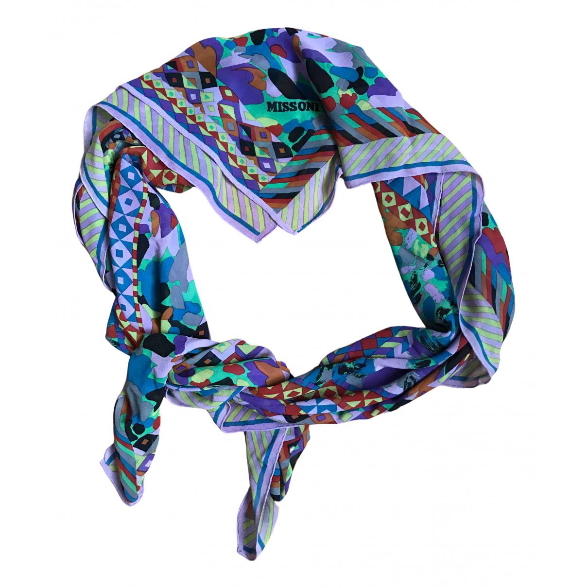 Missoni - Foulard   pour femme en soie - multicolore