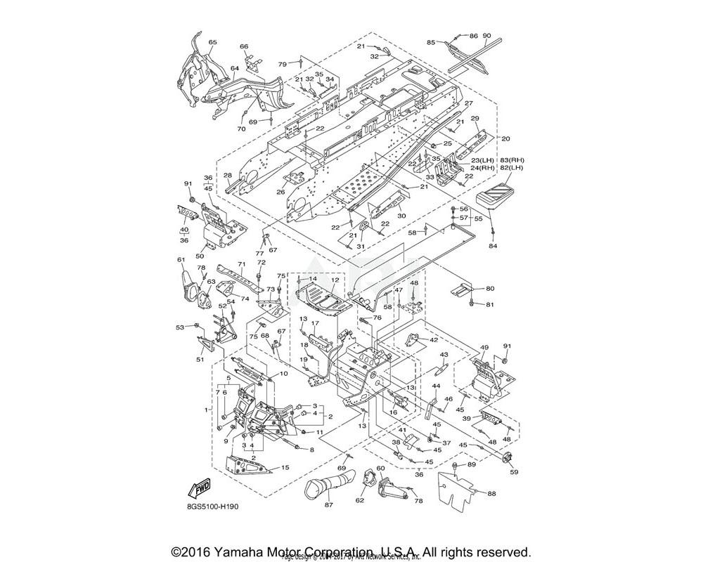 Yamaha OEM 8FN-2198F-00-00 COVER 1