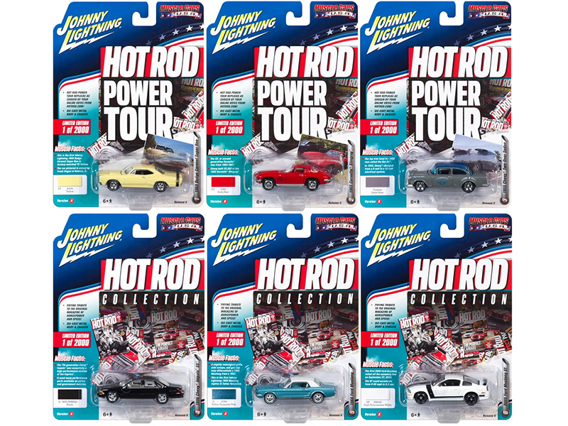 Muscle Cars USA 2017 Release 4A Set of 6 cars 1/64 Diecast Model Cars by Johnny Lightning