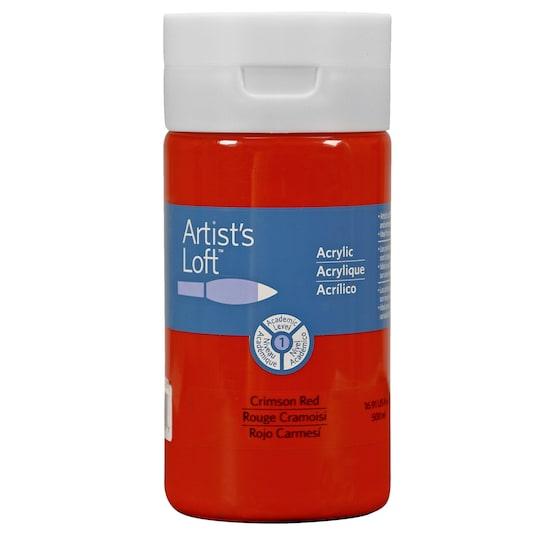 Artist's Loft® Acrylic Paint, 16.9 oz in Crimson | Michaels®