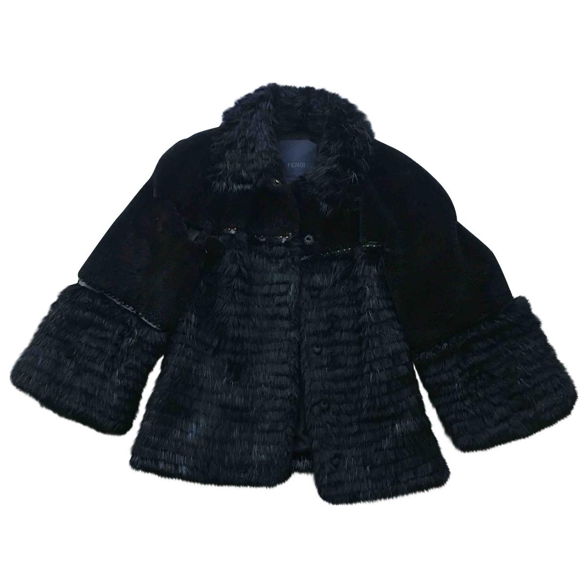 Fendi - Manteau   pour femme en vison - noir