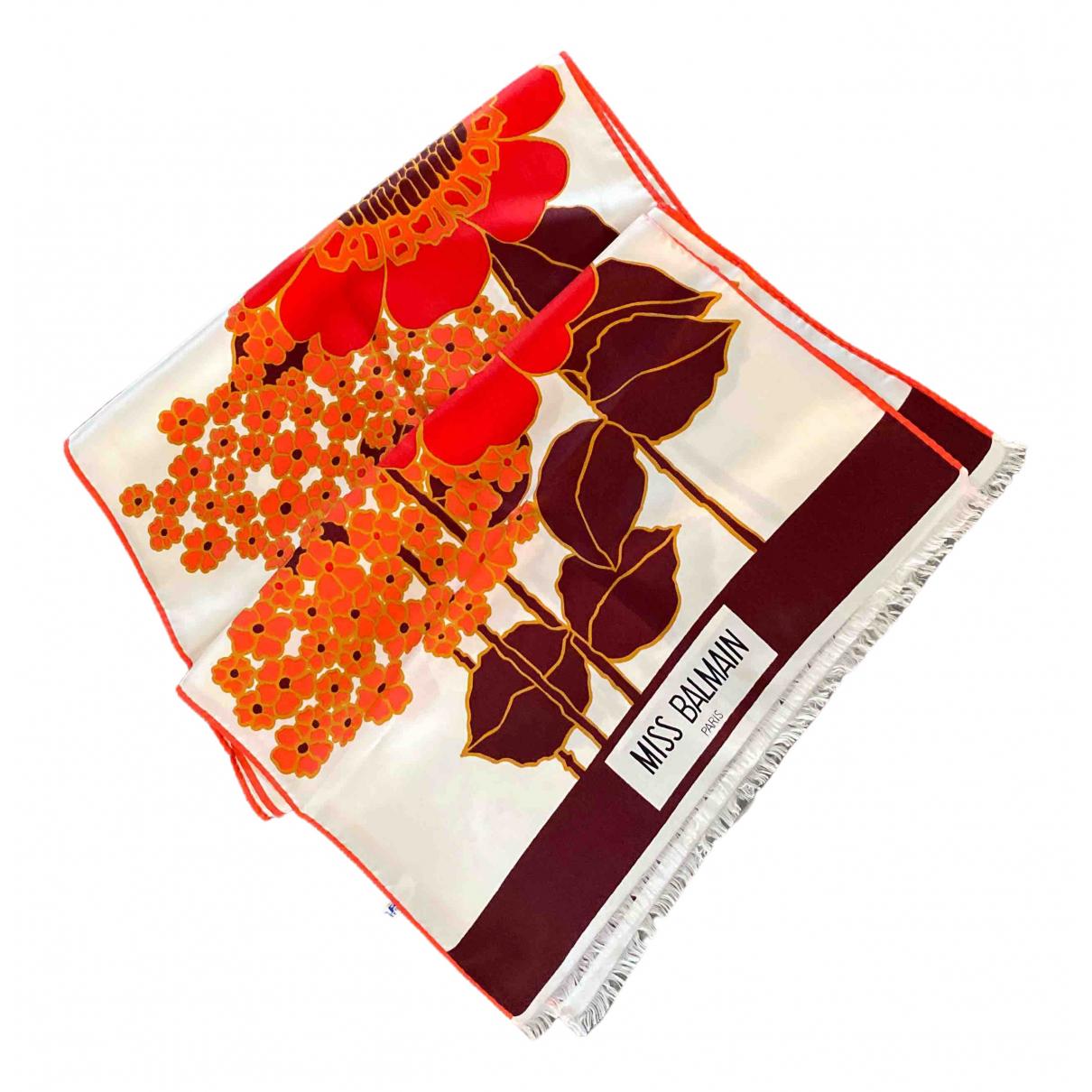 Balmain \N Red Silk scarf for Women \N