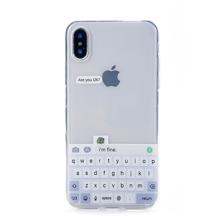 Keyboard Print Transparent iPhone Case