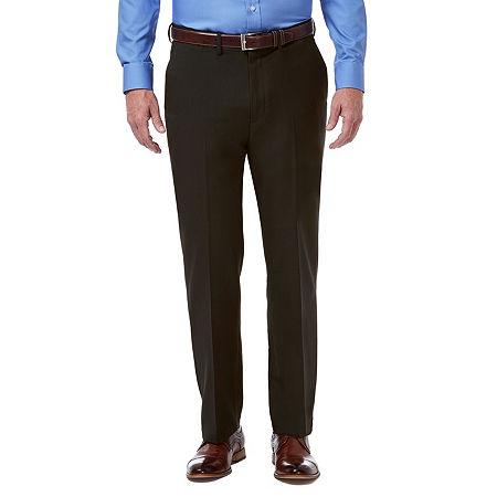 Haggar Premium Comfort Dress Pant Classic Fit Flat Front, 40 29, Brown