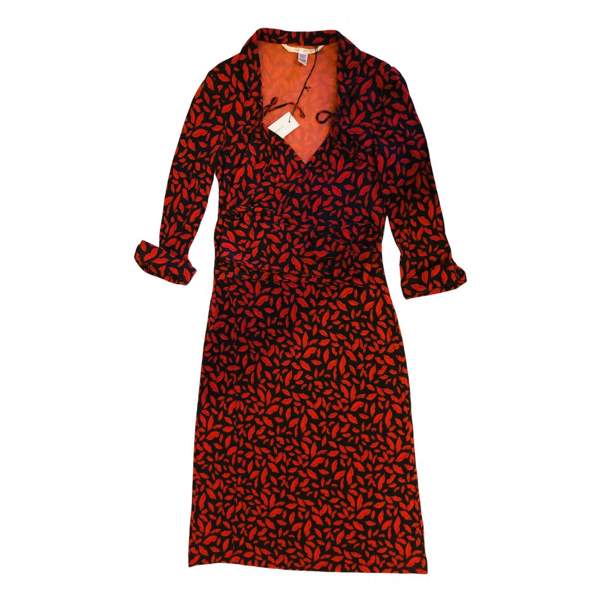 Diane Von Furstenberg \N Red Silk dress for Women 2 US