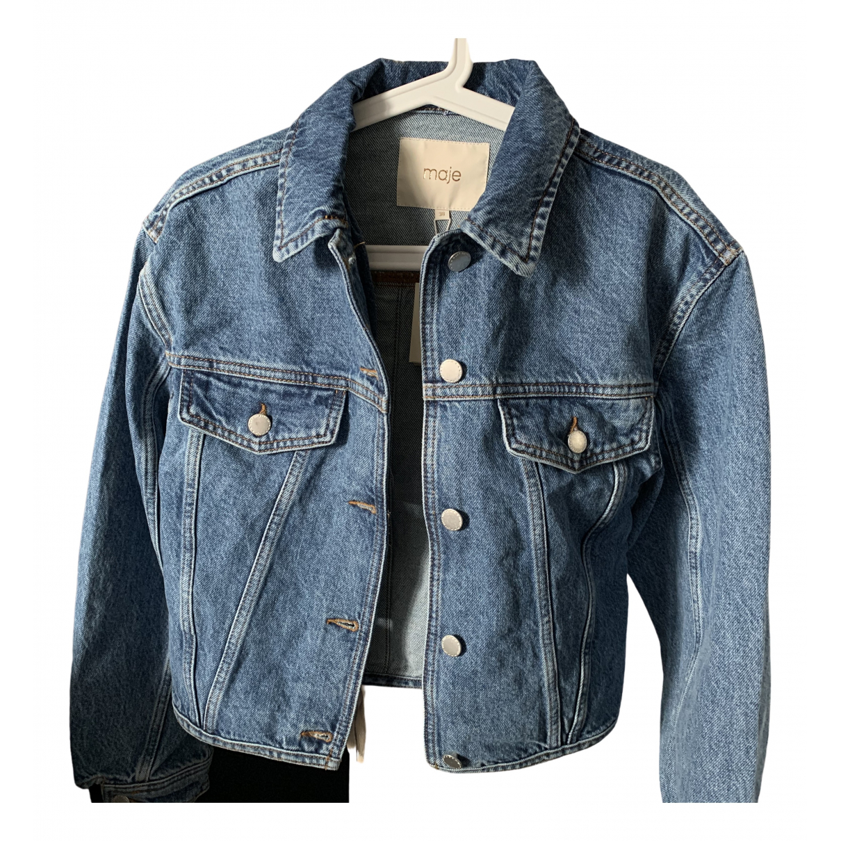 Maje Spring Summer 2020 Blue Denim - Jeans jacket for Women 38 FR