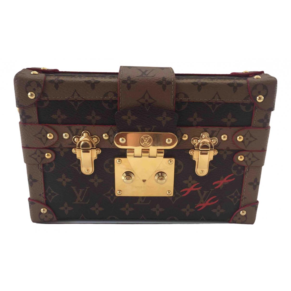 Louis Vuitton Petit Malle Brown Cloth handbag for Women \N