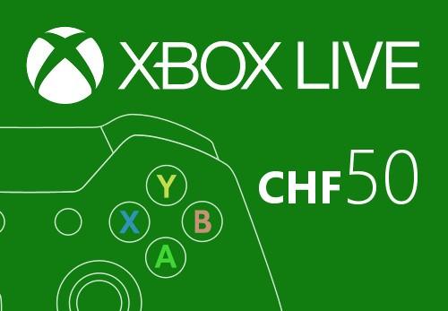 XBOX Live 50 CHF Prepaid Card CH