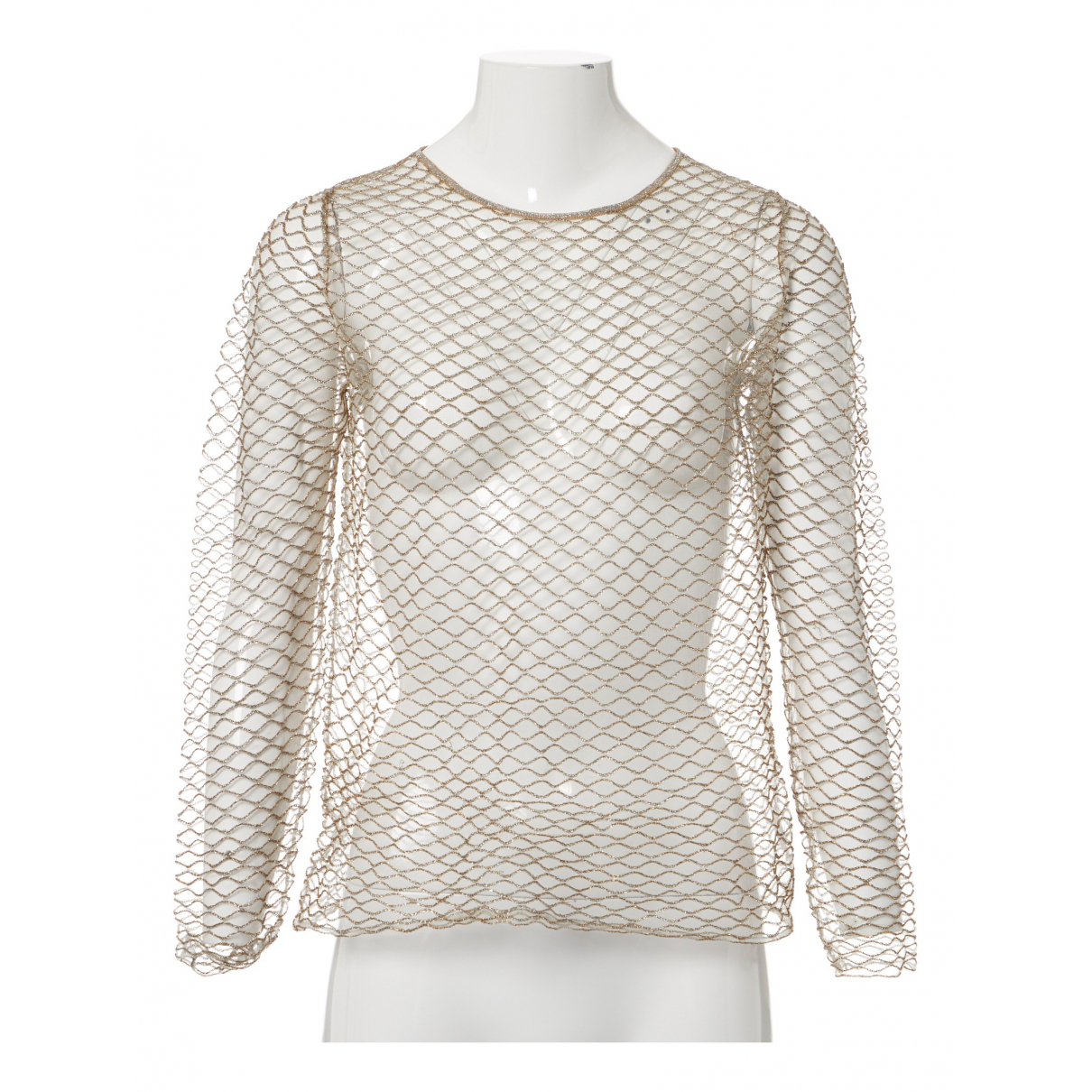 Dries Van Noten \N Top in  Beige Polyester
