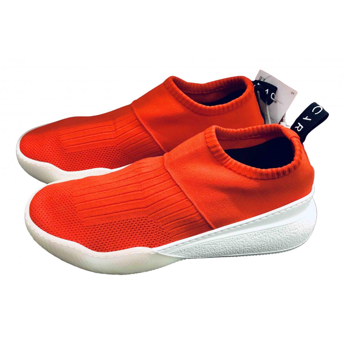 Stella Mccartney \N Sneakers in  Rot Leinen