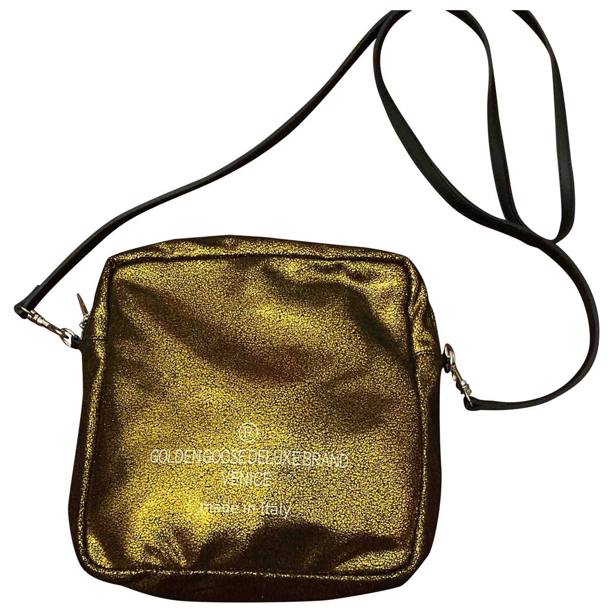 Golden Goose \N Gold Leather Clutch bag for Women \N