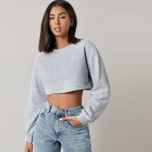 Drop Shoulder Crop Pullover